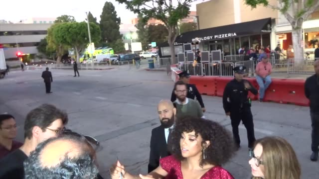 alexandra shipp greets fans outside the jexi premiere at fox bruin theatre in westwood in celebrity sightings in los angeles - bruin theater stock videos & royalty-free footage