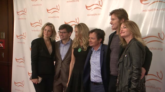 alexandra wentworth george stephanopoulos tracy pollan michael j fox denis leary and guest at a funny thing happened on the way to cure parkinsons at... - michael j. fox stock videos and b-roll footage