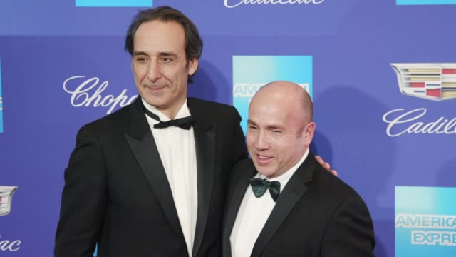 Alexandre Desalt and Miles Dale at the 29th Annual Palm Springs International Film Festival Awards Gala at Palm Springs Convention Center on January...