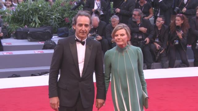 Alexandre Desplat Dominique Lemonnier at 'Suburbicon' Red Carpet 74th Venice International Film Festival at Palazzo del Cinema on September 02 2017...