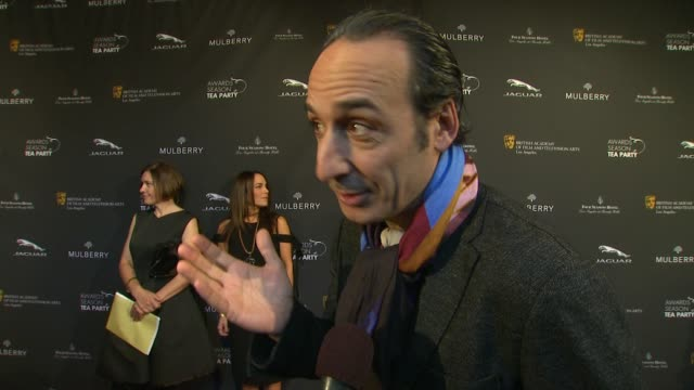 interview alexandre desplat on being a part of the afternoon at bafta la 2014 awards season tea party at four seasons hotel los angeles at beverly... - season 11 stock videos and b-roll footage