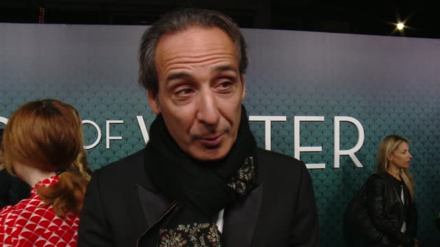 """alexandre desplat on the film's score and what the audience can expect at """"the shape of water"""" los angeles premiere presented by fox searchlight... - academy of motion picture arts and sciences stock-videos und b-roll-filmmaterial"""