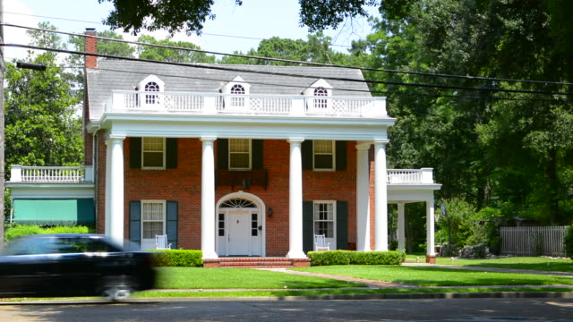 Alexandria Louisana old southern Colonial home on Jackson Street for the Old South
