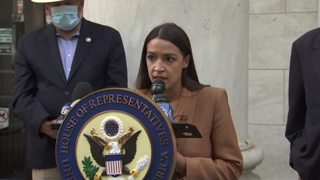 alexandria ocasio-cortez remarks on alleged efforts by the trump administration to sabotage the postal service. - united states and (politics or government) stock videos & royalty-free footage