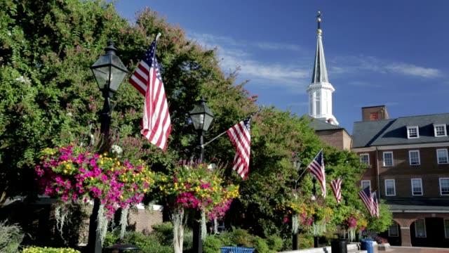 アレキサンドリア市庁舎と旧市街の広場 - バージニア州点の映像素材/bロール