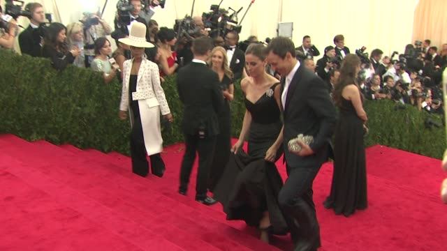 alexi ashe and seth meyers at charles james beyond fashion costume institute gala arrivals at the metropolitan museum on may 05 2014 in new york city - alexi ashe stock videos and b-roll footage