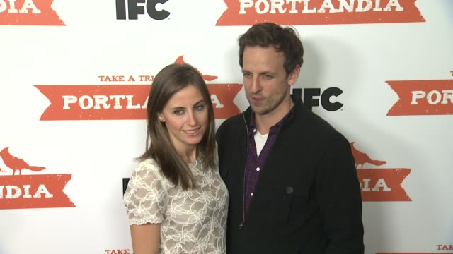 alexi ashe and seth meyers at portlandia screening hosted by ifc red carpet new york ny united states 1/5/2012 - alexi ashe stock videos and b-roll footage