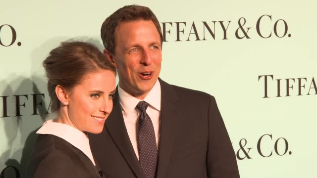 alexi ashe and seth meyers at tiffany debuts the 2014 blue book at the guggenheim museum in new york at guggenheim museum on april 10 2014 in new... - alexi ashe stock videos and b-roll footage