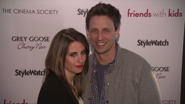 alexi ashe and seth myers at 'friends with kids' new york special screening on 3/5/2012 in new york ny united states - alexi ashe stock videos and b-roll footage