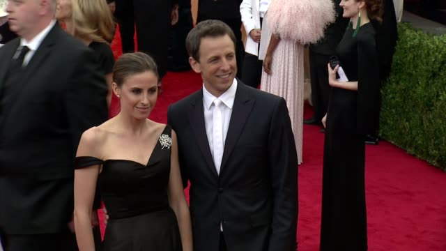 alexi ashe seth meyers at charles james beyond fashion costume institute gala arrivals at the metropolitan museum on may 05 2014 in new york city - alexi ashe stock videos and b-roll footage