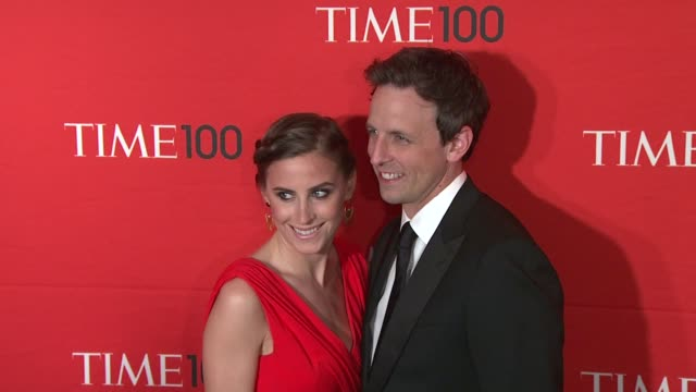 alexi ashe seth meyers at time 100 gala at frederick p rose hall jazz at lincoln center on april 24 2012 in new york new york - alexi ashe stock videos and b-roll footage