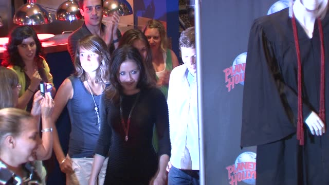 alexis bledel and zach gilford at the alexis bledel and zach gilford visit planet hollywood - august 20, 2009 at new york ny. - alexis bledel stock videos & royalty-free footage