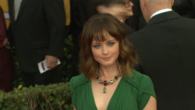 alexis bledel at 19th annual screen actors guild awards - arrivals on 1/27/13 in los angeles, ca . - alexis bledel stock videos & royalty-free footage