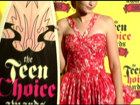 alexis bledel at the 2005 teen choice awards press room at the universal amphitheatre in universal city, california on august 15, 2005. - alexis bledel stock videos & royalty-free footage