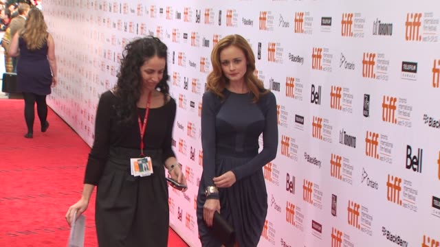 alexis bledel at the 2010 toronto international film festival - 'the conspirator' premiere at toronto on. - alexis bledel stock videos & royalty-free footage