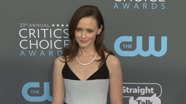 alexis bledel at the 23rd annual critics' choice awards at barker hangar on january 11, 2018 in santa monica, california. - alexis bledel stock videos & royalty-free footage