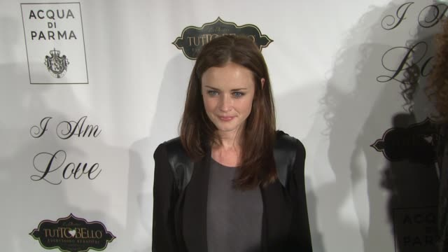 alexis bledel at the 'i am love' new york premiere at new york ny. - alexis bledel stock videos & royalty-free footage