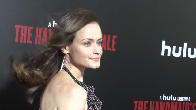 alexis bledel at the premiere of hulu's 'the handmaid's tale' on april 25, 2017 in hollywood, california. - alexis bledel stock videos & royalty-free footage
