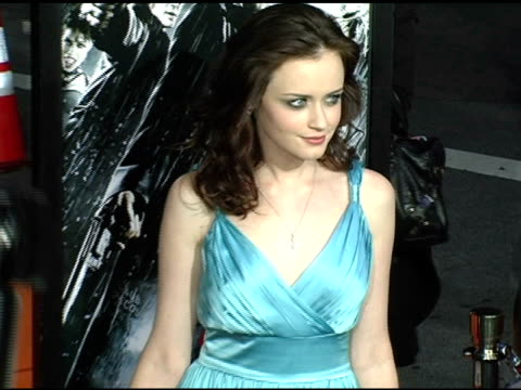 alexis bledel at the 'sin city' los angeles premiere at the mann national theatre in westwood, california on march 28, 2005. - alexis bledel stock videos & royalty-free footage