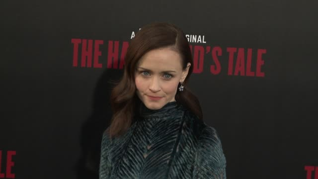 """alexis bledel at the """"the handmaid's tale"""" season 2 premiere at tcl chinese theatre on april 19, 2018 in hollywood, california. - alexis bledel stock videos & royalty-free footage"""