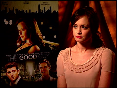 alexis bledel on how she related to her character. at the 'the good guy' junket at los angeles ca. - alexis bledel stock videos & royalty-free footage
