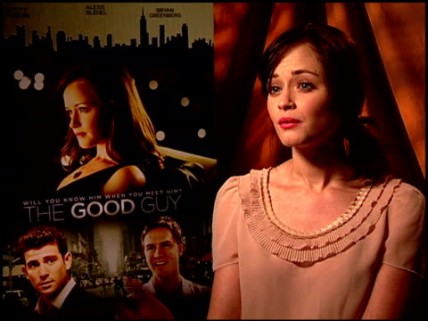 alexis bledel on how the books they talk about in the film relate to the story. at the 'the good guy' junket at los angeles ca. - alexis bledel stock videos & royalty-free footage