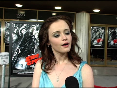 alexis bledel on how this role is very different from gilmore girls which is a reason why she wanted to work on it, the difficulty of working with... - alexis bledel stock videos & royalty-free footage