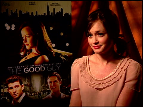 alexis bledel on what she learned from being part of this film. at the 'the good guy' junket at los angeles ca. - alexis bledel stock videos & royalty-free footage