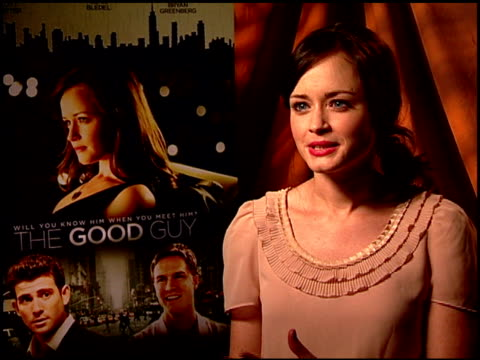 alexis bledel on why she wanted to be part of this film. at the 'the good guy' junket at los angeles ca. - alexis bledel stock videos & royalty-free footage
