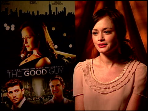 alexis bledel on working with first time writer/director julio depietro. at the 'the good guy' junket at los angeles ca. - alexis bledel stock videos & royalty-free footage