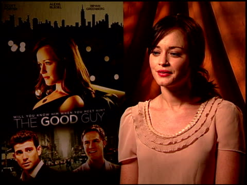 alexis bledel on working with the cast and crew. at the 'the good guy' junket at los angeles ca. - alexis bledel stock videos & royalty-free footage
