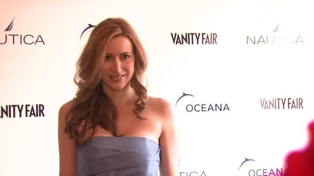 alexis bryan morgan at the oceana nautica vanity fair celebrate world oceans day at new york ny - oceana stock videos & royalty-free footage