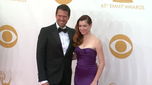 Alexis Denisof and Alyson Hannigan at the 65th Annual Primetime Emmy Awards Arrivals in Los Angeles CA on 9/22/13