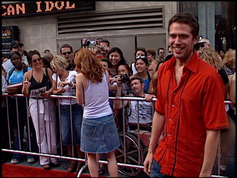 Alexis Denisof at the American Idol Finale at the Kodak Theatre in Hollywood California on September 4 2002