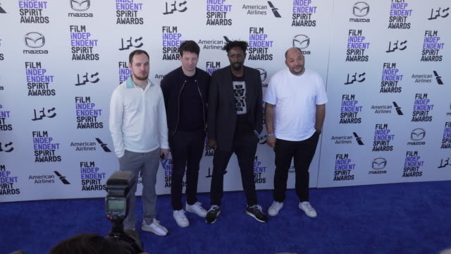 alexis manenti christophe barral ladj ly and toufik ayadi at the 2020 film independent spirit awards on february 08 2020 in santa monica california - film independent spirit awards stock videos & royalty-free footage