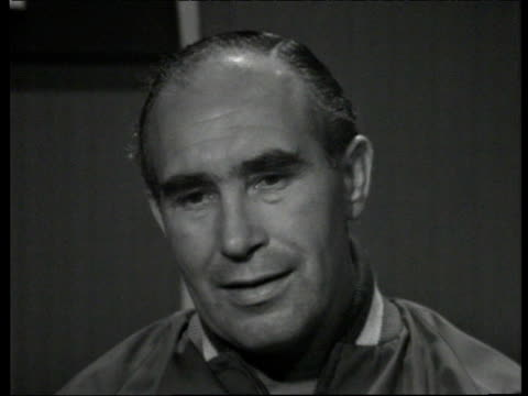 alf ramsey speaks about pressure on england players following their win over france at 1966 world cup england - 1966 stock videos and b-roll footage