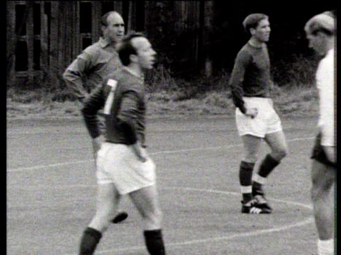 Alf Ramsey takes England training session at 1966 World Cup Lilleshall