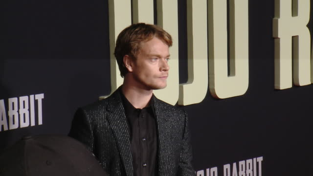 """alfie allen at the """"jojo rabbit"""" los angeles premiere presented by fox searchlight pictures in los angeles ca - fox searchlight pictures stock videos & royalty-free footage"""