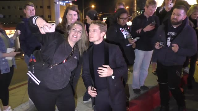alfie allen outside the entertainment weekly prescreen actors guild awards party at chateau marmont in los angeles at celebrity sightings in los... - entertainment weekly stock videos & royalty-free footage