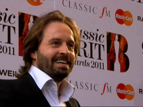 Alfie Boe at the Classic Brit Awards at London England