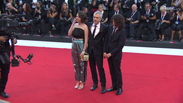 alfonso cuarón at 'roma' red carpet arrivals 75th venice film festival on august 30 2018 in venice italy - alfonso cuaron stock videos & royalty-free footage