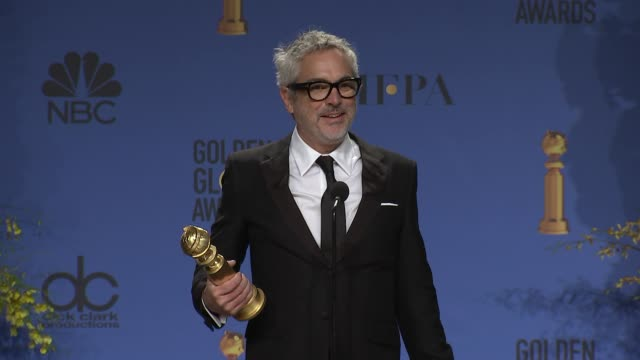 speech alfonso cuarón at the 76th annual golden globe awards press room at the beverly hilton hotel on january 06 2019 in beverly hills california - alfonso cuaron stock videos & royalty-free footage