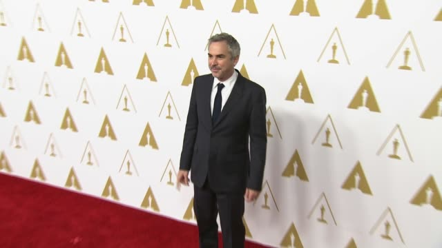 alfonso cuarón at the 86th academy awards nominee luncheon reception at the beverly hilton hotel on in beverly hills california - alfonso cuaron stock videos & royalty-free footage