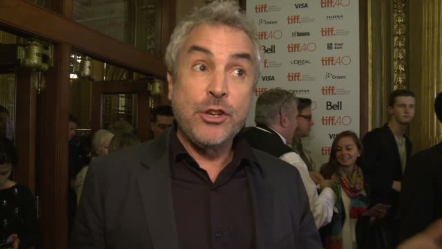 interview alfonso cuarón on collaborating with jonas once again for this film at the elgin on september 13 2015 in toronto canada - alfonso cuaron stock videos & royalty-free footage