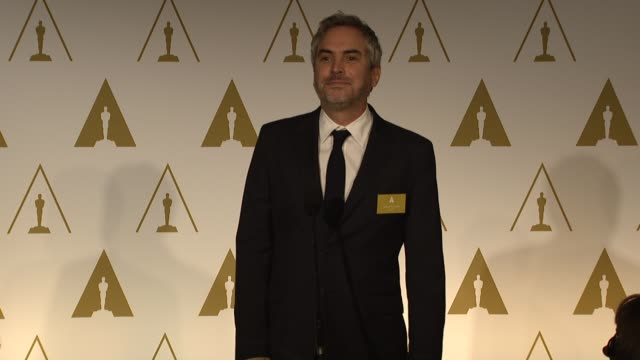 interview alfonso cuarón on directing gravity at the 86th academy awards nominee luncheon reception at the beverly hilton hotel on in beverly hills... - alfonso cuaron stock videos & royalty-free footage