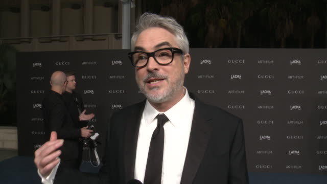 interview alfonso cuarón on the event and being honored at the 2019 lacma artfilm gala honoring betye saar and alfonso cuarón and presented by gucci... - alfonso cuaron stock videos & royalty-free footage
