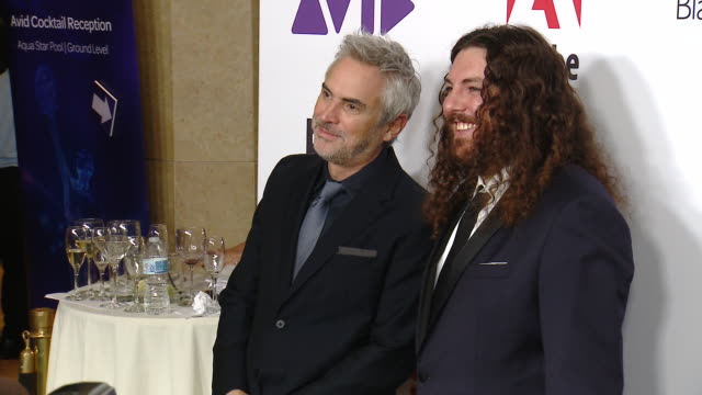 alfonso cuaron adam gough at 69th annual ace eddie awards in los angeles ca - alfonso cuaron stock videos & royalty-free footage