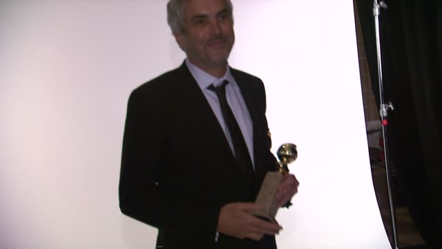 Alfonso Cuaron at 71st Annual Golden Globe Awards Backstage at The Beverly Hilton Hotel on in Beverly Hills California