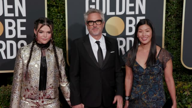 alfonso cuaron at 76th annual golden globe awards arrivals in los angeles ca 1/6/19 4k footage - alfonso cuaron stock videos & royalty-free footage