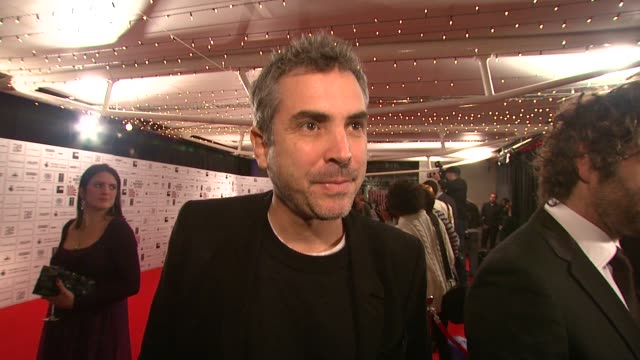 alfonso cuaron on british independent film on being there and on his son's film at the british independent film awards at london - alfonso cuaron stock videos & royalty-free footage